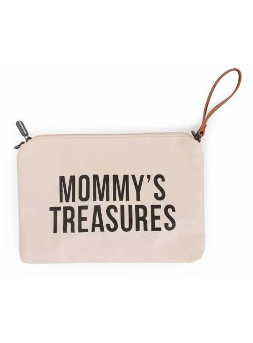 Mini taška s poutkem a ramínkem MOMMY´S TREASURES, krémovo bílá