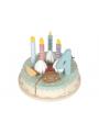 Narodeninová torta so sviečkami a číslami
