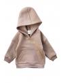 Detská mikina s kapucňou, béžová - 6-12 mes