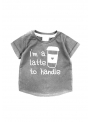 I´m a latte to handle – detské tričko, šedé