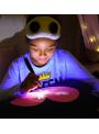 Zábavný iluminačný poťah na vankúš srdiečko + laser pero