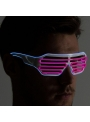 Iluminačné okuliare, ružovo/modré