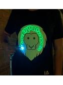 LIMITKA Dětské zábavní iluminační tričko černé LVÍČE +laser pero