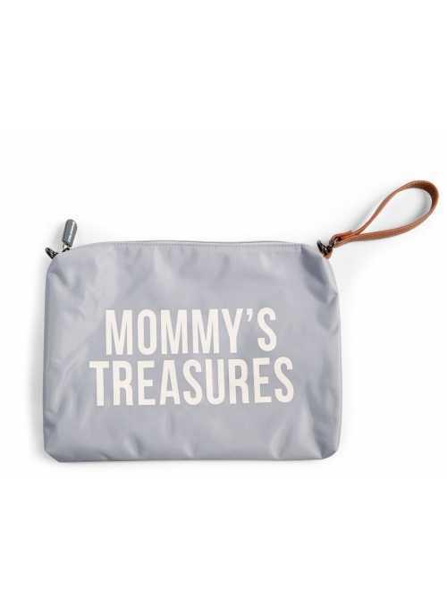Mini taška s poutkem a řemínkem MOMMY´S TREASURES,šedá