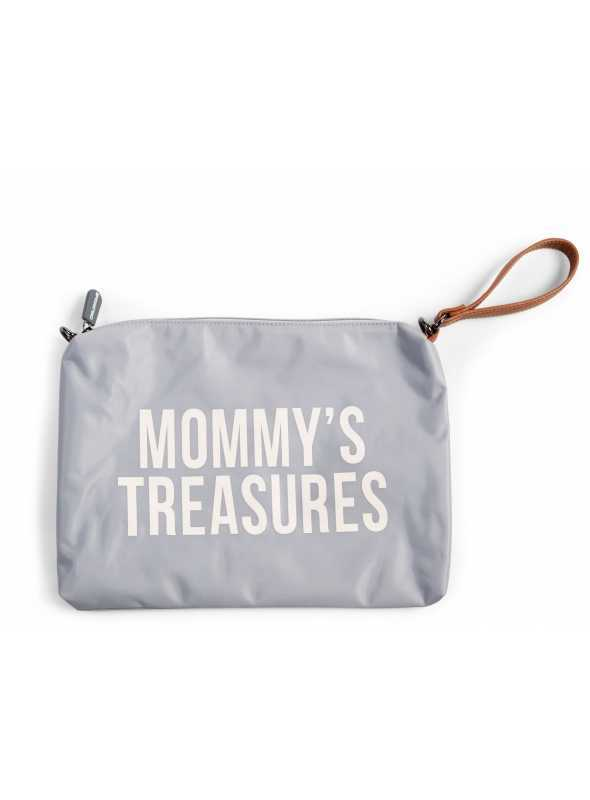 Mini taška s putkom a remienkom MOMMY´S TREASURES,šedá