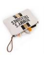 Mini taška s putkom a remienkom MOMMY´S TREASURES, krémovo biela+zlatá