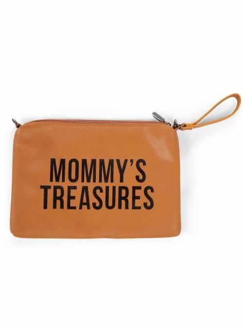 Mini taška s putkom a remienkom MOMMY´S TREASURES, hnedá
