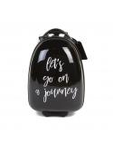 Dětský pojízdný kufr černý