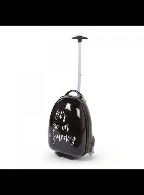 Detský pojazdný kufor čierny
