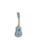 Dětská dřevěná gitara, modrá