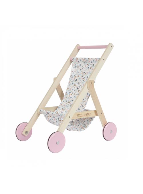Dětský dřevěný kočárek pre panenky