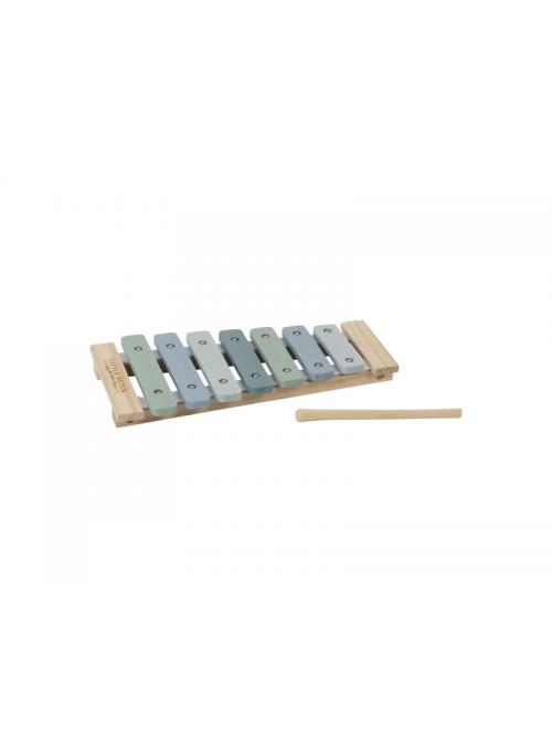 Dětský dřevěný xylofón, modrý