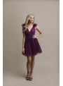 Olivia - mini šaty, baklažánové - S