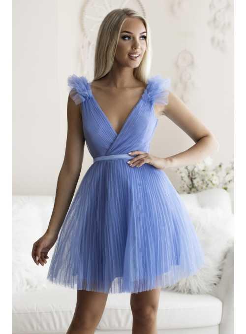 Olivia - mini šaty, bledomodré