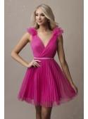 Olivia - mini šaty, fuchsiové - S