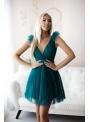 Olivia - mini šaty, smaragdové