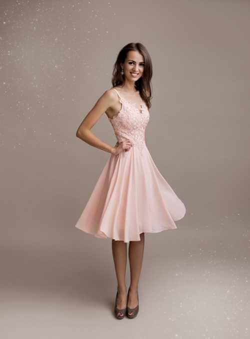Stella - mini šaty, ružové - S