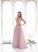 Francesca - maxi šaty, růžové