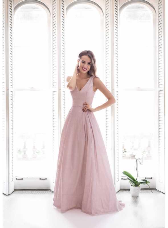Francesca - maxi šaty, ružové