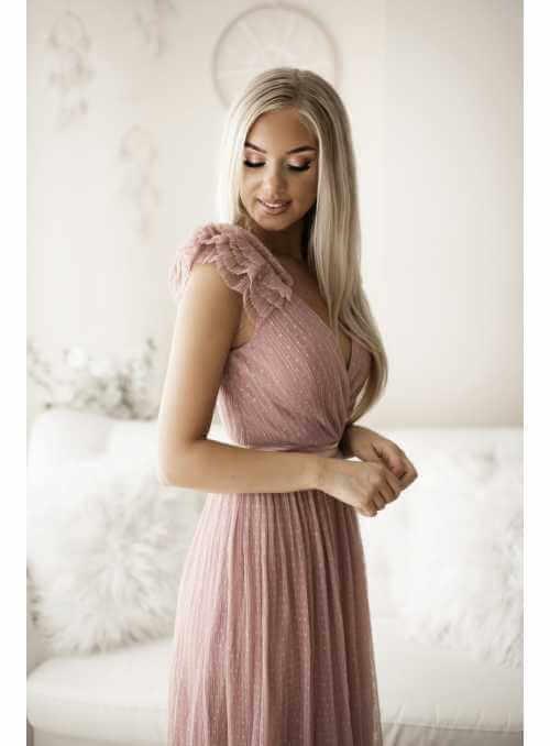 Skylar - maxi šaty, pudrovoružové