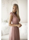 Skylar - maxi šaty, pudrověrůžové