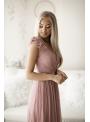 Skylar - maxi šaty, pudrovoružové - S