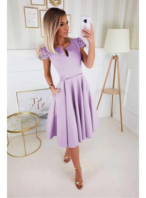 Koktejlky - padavé šaty, levanduľové