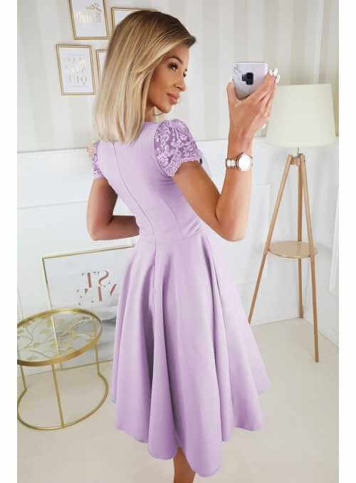 Koktejlky - padavé šaty, levanduľové - M