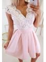 Selena - mini šaty s mašľou, ružové