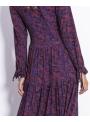 Jarabinka - maxi padavé šaty s dlhým rukávom