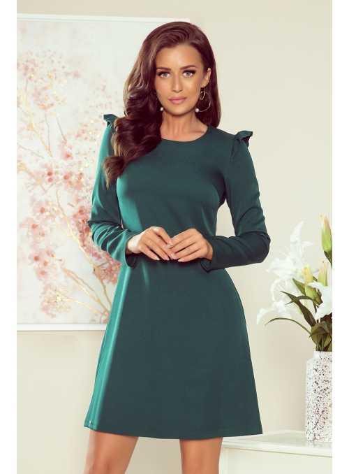"Mini šaty ""Ester"" s dlhým rukávom, zelená"