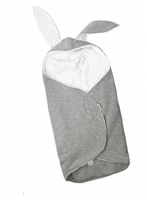 Spací vak s uškami - Zajačik, šedý