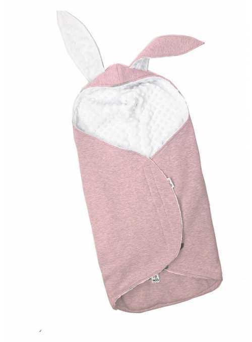 Spací vak s uškami - Zajačik, ružový