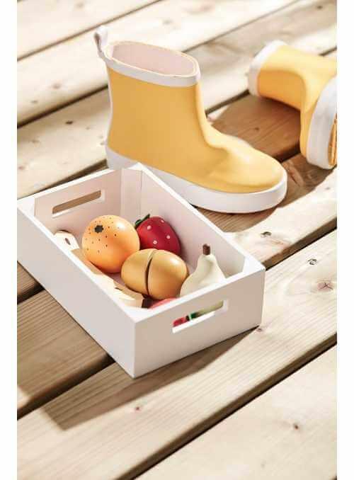 Detská drevená bednička s ovocím, Bistro