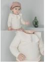 Krémový top s volánom, 5-6 rokov