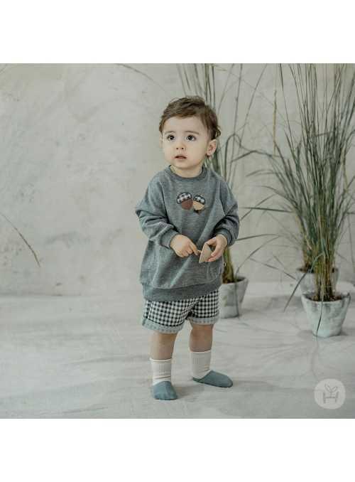 """""""Jesenný set"""" - top + šortky, 3-5 rokov"""
