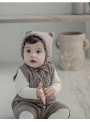 Hnedá detská čiapočka s uškami
