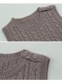 Detské pletené body, hnedé - 5-6 rokov