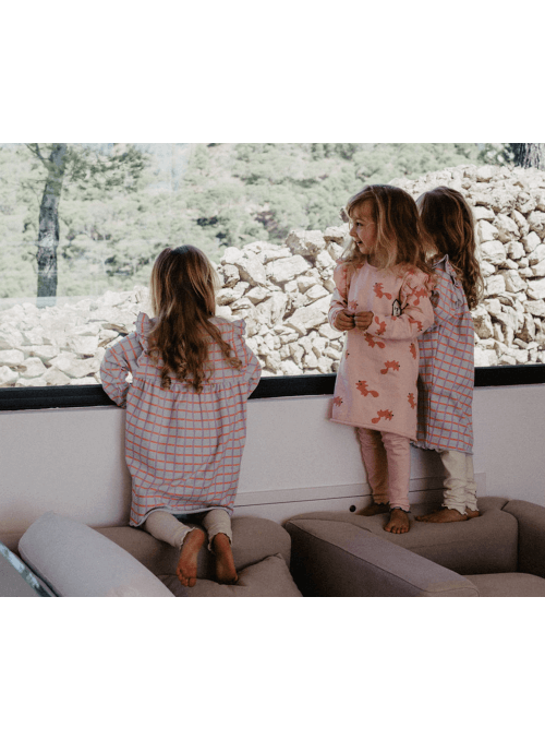 Set - pásikavé šaty + legíny- 3-5 rokov