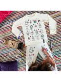 Vianočné pyžamko na vyfarbovanie- 3-4 roky