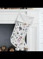 Vianočná čižmička na vyfarbovanie