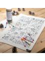 Vianočný adventný kalendár na vyfarbovanie