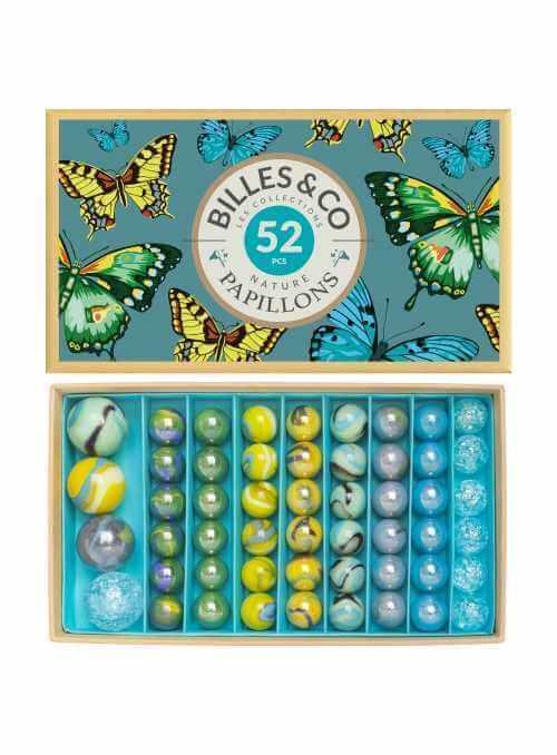 Veľký box guľôčok, motýlia záhrada