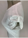 Dámske tričko s U-výstrihom a vyhrnutým rukávom