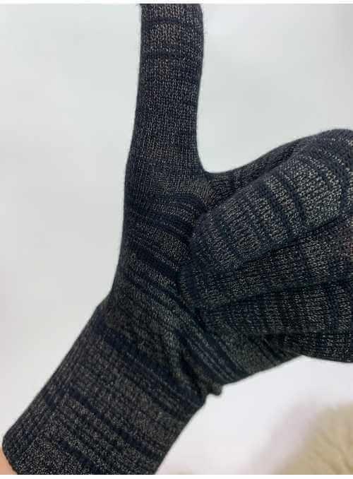 Rukavice s vláknom na ovládanie dotykového displeja, čierne
