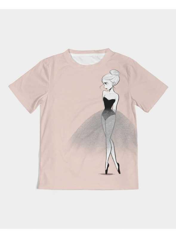 DOLLY tričko doodling, baletná ružová