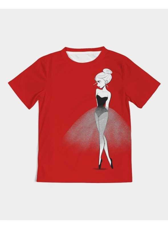 DOLLY tričko doodling, červená