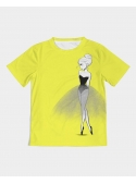 kid DOLLY T-shirt doodling, yellow