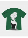 kid DOLLY T-shirt doodling, green