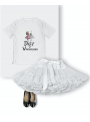 kid DOLLY T-shirt DOLLY in wonderland, white